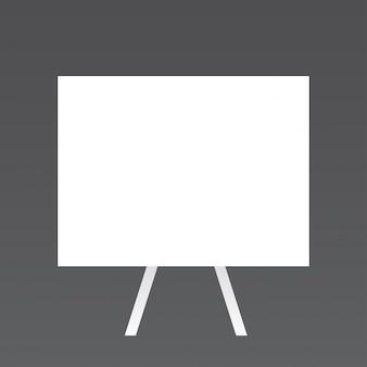 Tableau blanc moke up design sur fond gris