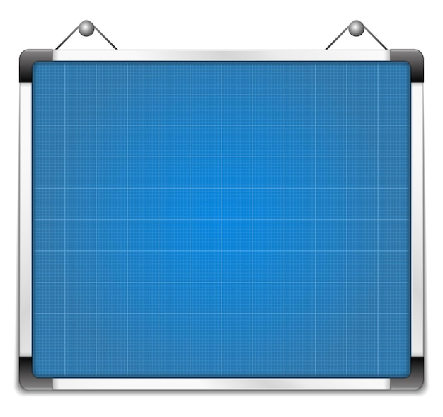 Tableau blanc avec plan, illustration