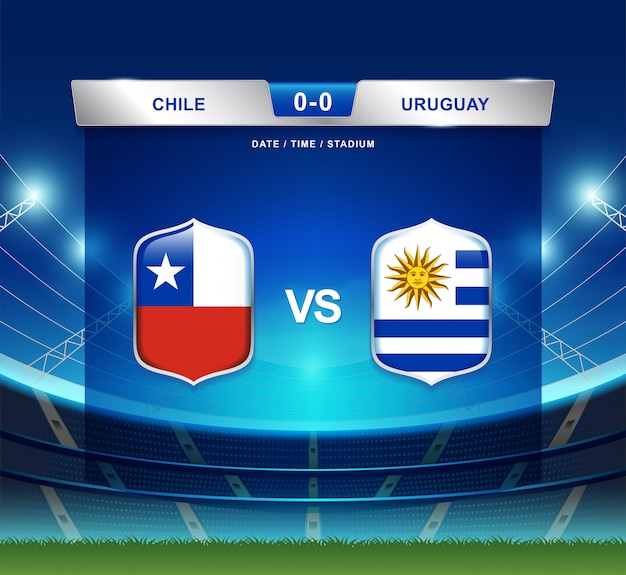 Tableau de bord chili vs uruguay diffusion football copa america