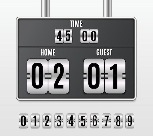 Tableau de bord mécanique. ensemble de nombres isolé sur fond transparent.