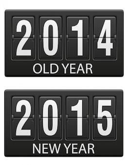 Tableau de bord mécanique vieux et la nouvelle année.
