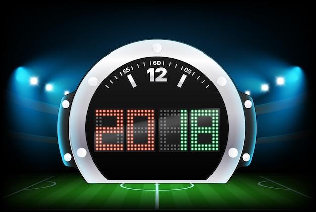 Tableau de bord numérique avec fond de stade