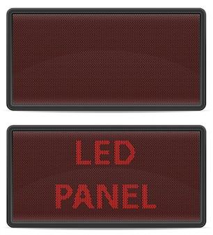 Tableau de bord numérique à panneaux.