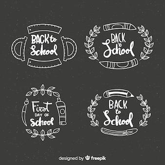 Tableau de collection de badges de retour à l'école