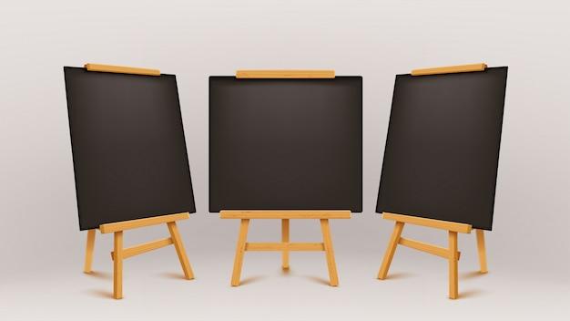 Tableau de conférence en bois noir
