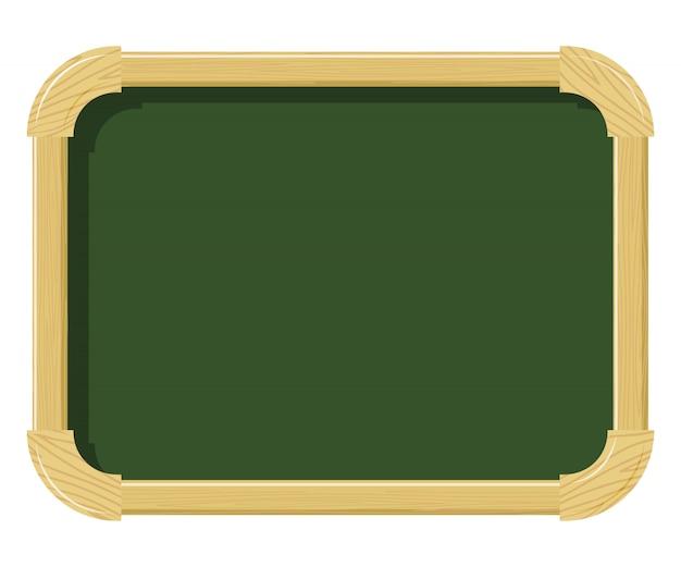 Tableau de craie scolaire en bois avec texture bois. espace libre pour les travaux scolaires. fournitures scolaires. sujet de l'intérieur de l'école