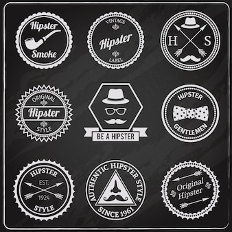 Tableau d'étiquettes hipster