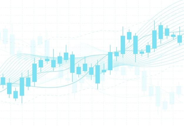 Tableau graphique de bougie bâton des investissements boursiers