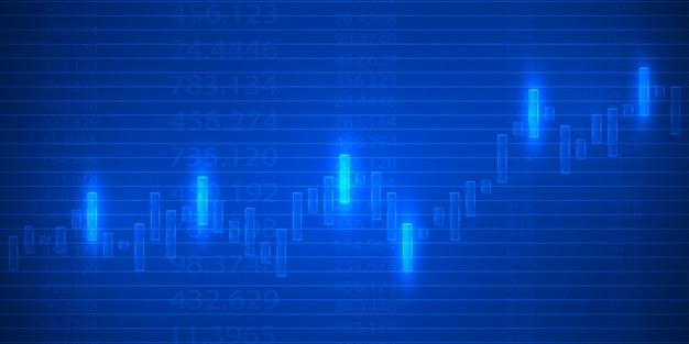Tableau graphique de bougie bâton de négociation des investissements en bourse