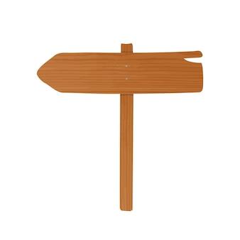 Tableau de guidage en bois composé d'une planche et d'un poteau cloués ensemble.