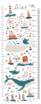 Tableau des hauteurs marines pour les enfants