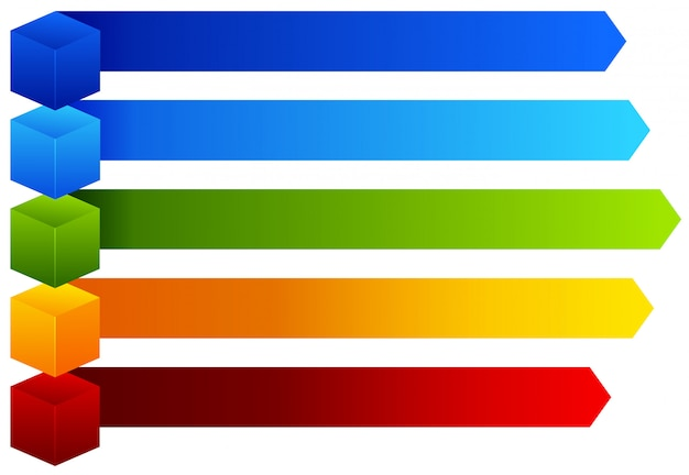 Un tableau d'information coloré