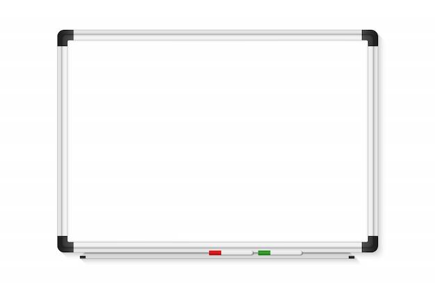 Tableau de marqueur blanc vide sur transparent