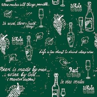 Tableau de motif de vin sans soudure