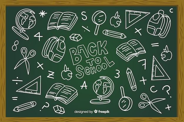 Tableau noir au fond de l'école