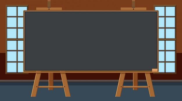 Tableau noir au milieu de la classe