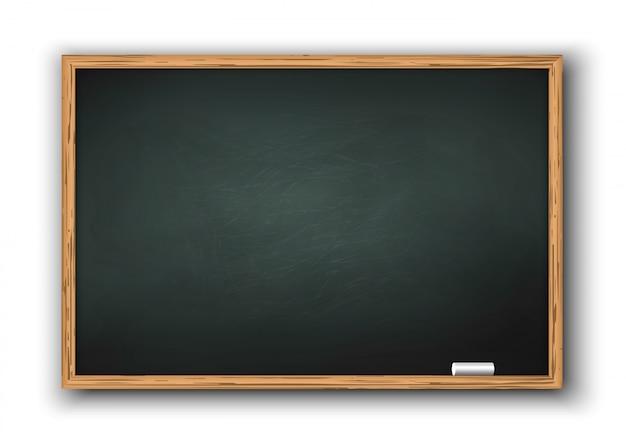 Tableau noir avec cadre en bois