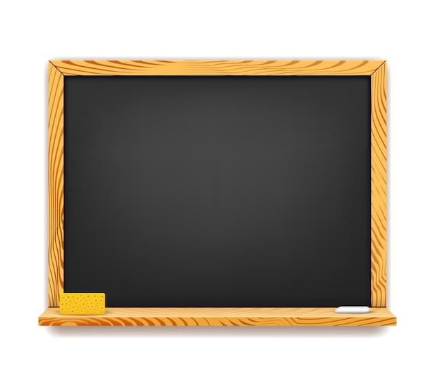 Tableau noir d'école avec gomme