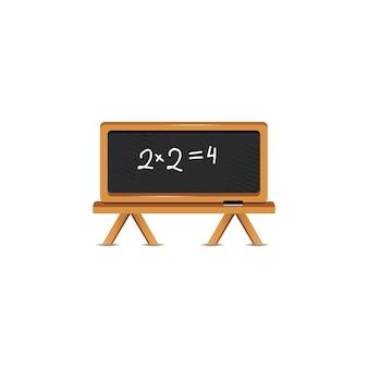 Tableau noir avec formule