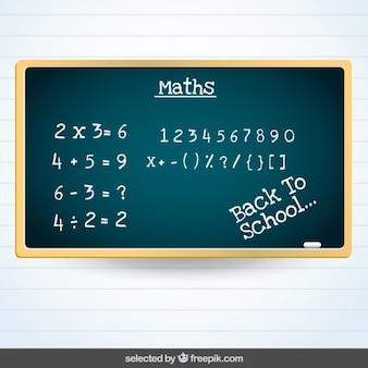 Tableau noir maths