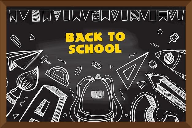 Tableau noir retour au fond de l'école