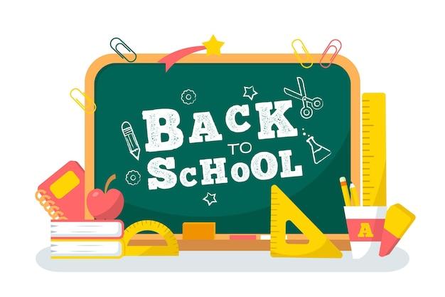 Tableau noir retour à la conception de fond de l'école