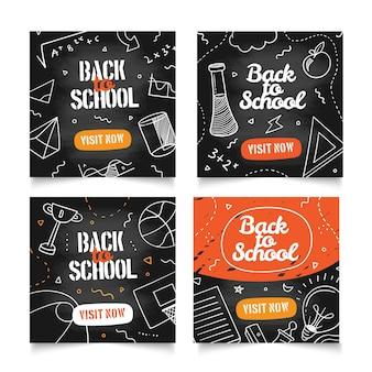 Tableau noir retour à l'école instagram posts