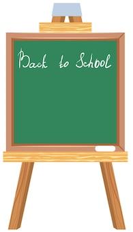 Tableau noir vert. retour à l'école.