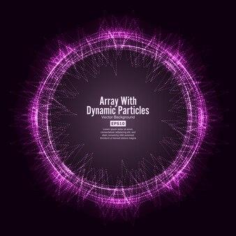 Tableau avec des particules dinamic vector with splash