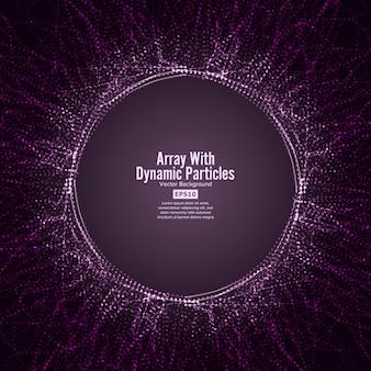 Tableau avec des particules dinamiques vector avec des particules dynamiques