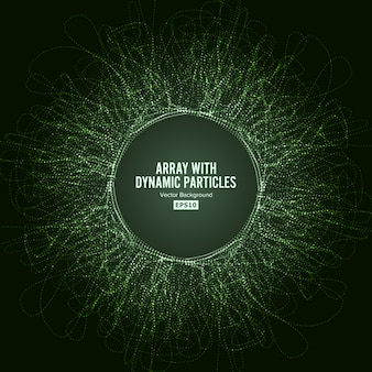 Tableau avec des particules dinamiques