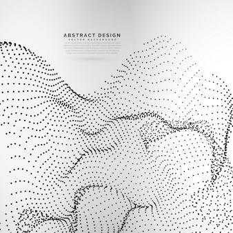 Tableau en particules dynamiques dans le style de maille ondulée