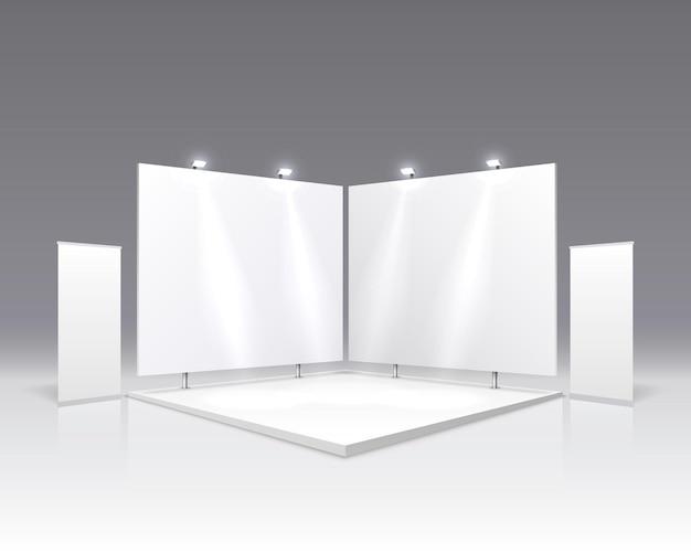 Tableau de présentation de scènes, présentoir de table blanc.