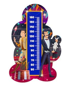 Tableau de taille pour enfants, cirque shapito. règle de mètre de mesure de croissance