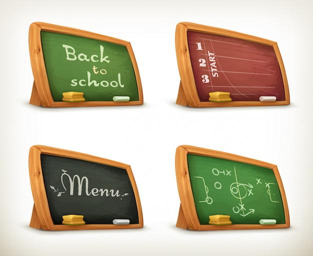 Tableaux, ensemble de menus sportifs scolaires