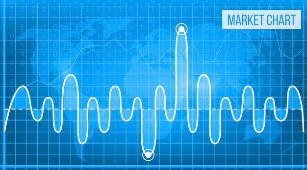 Tableaux financiers de données commerciales. diagramme des finances.