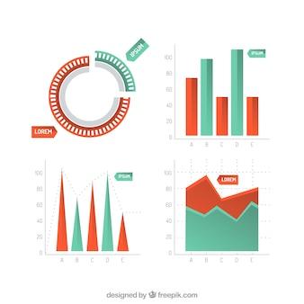 Tableaux de statistiques infographiques