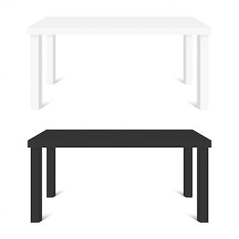 Tables blanches et noires