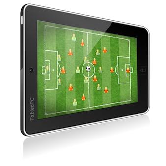 Tablet pc avec jeu de football