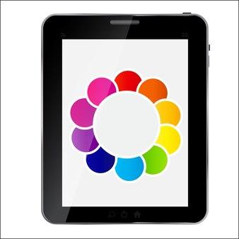 Tablette de conception abstraite. illustration vectorielle