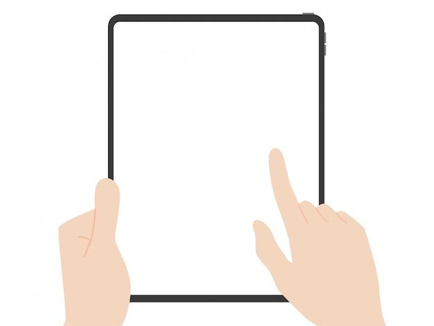 Tablette à mains