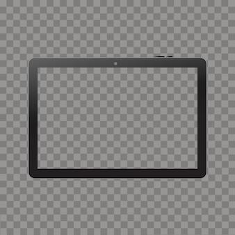Tablette noire maquette blanc isolé