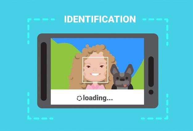 Tablette numérique numérisation utilisateur système d'identification par chargement du visage contrôle d'accès technologie moderne