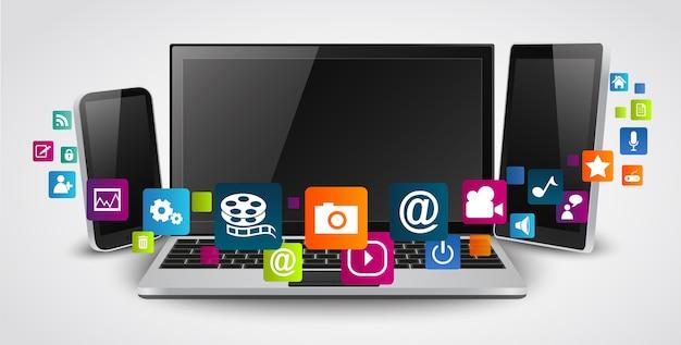 Tablette tactile et téléphones portables