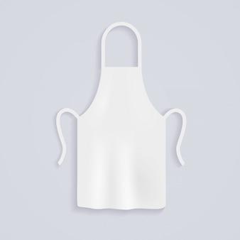 Tabliers de cuisine blancs. uniforme de chef pour cuisiner.