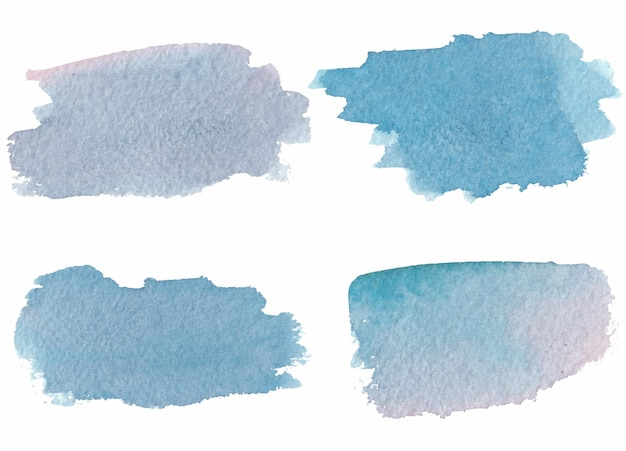 Tache bleue aquarelle