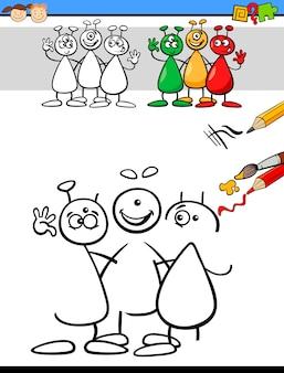 Tâche de couleur et de dessin pour les enfants