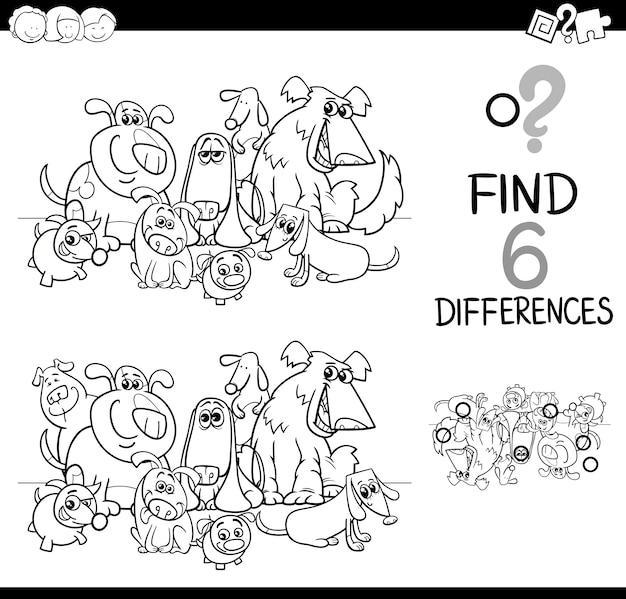 Tâche de différences coloriage