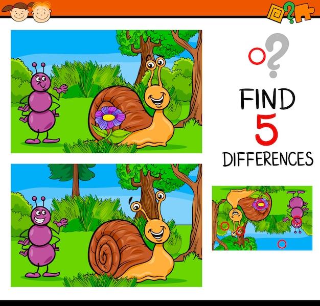 Tâche de différences éducatives