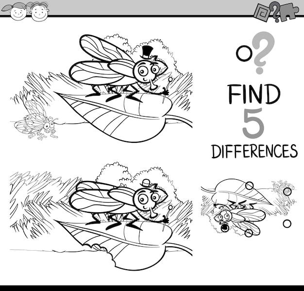 Tâche de différences livre de coloriage